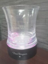 DOM PERIGNON  ROSE / WHITE CHAMPAGNE LED ILLUMINATED ICE BUCKET & BASE