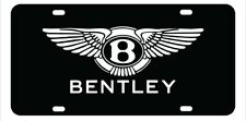 """Bentley"" Bentley License Plate, Custom Made of Chrome Plated Metal"