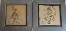 Lot of 2 Oriental Wooden Pictures Japanese Chinese?