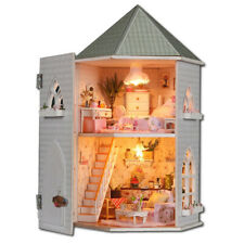 Gifts DIY Doll Houses Wooden Doll House Unisex 3D Dollhouse Furniture Toy D D6A8