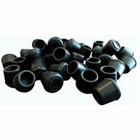 8758E Leg Tips 1/2-Inch Inside Diameter Rubber Chair Caps, 24 Pack, Black Tools