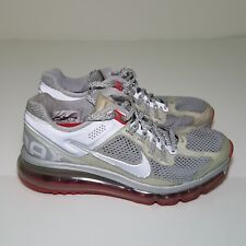 Women Nike air max + 2013 LE REFLECTIVE SILVER-HYPER RED Size 6