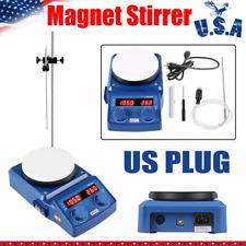 5 Inch Led Digital Magnetic Hotplate Stirrer Mixer Shaker Adjust Speed Amp Temp Us