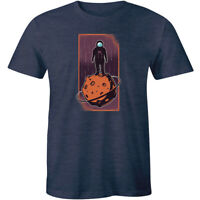 Amazing Astronaut Graphics Space Standing On Moon Men's T-shirt Gift Space