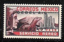 ubb83 Mexico 1934 Eagle Man color proof/essay, Goebel unwmk w/o gum