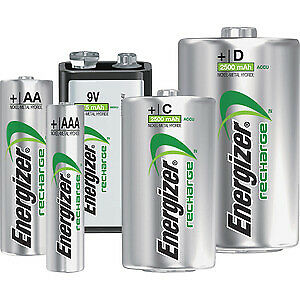 ENERGIZER AA AAA C D RECHARGEABLE BATTERIES 500 700 800 1300 2000 2300 2500mAh