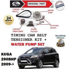 FOR FORD KUGA 2.5 200BHP 2009-2012 WATER PUMP + TIMING CAM BELT TENSIONER KIT