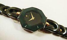 Lassale by Seiko Black & Gold Tone Metal 4N00-1910 Sample Watch NON-WORKING
