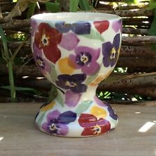 EMMA BRIDGEWATER . Tiny Wallflower . EGG CUP . spongeware Flowers