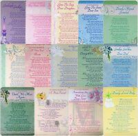 Memorial / In Loving Memory - Graveside Family / Friend / Open Card - Various