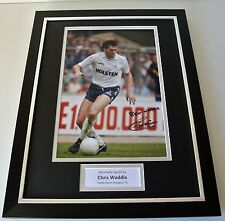 Chris Waddle SIGNED FRAMED Photo Autograph 16x12 display tottenham Hotspur COA