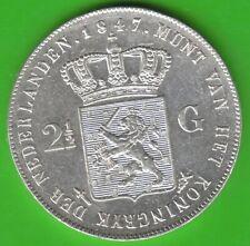 Niederlande 2 1/2 Gulden 1847 in vz leicht berieben hübsch nswleipzig
