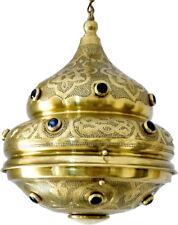 Moroccan Jeweled Matte Gold Brass Ceiling light Fixture Pendant Lamp Lantern