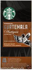 Starbucks Nespresso Espresso Guatemala Antigua Coffee Compatible 10 Pods