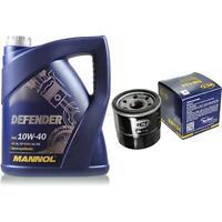 Ölwechsel Set 5 Liter MANNOL Defender 10W-40 + SCT Ölfilter Service 10164118