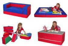 Kindersofa mit Bettfunktion 4in1 Matratze Spieltisch Puzzle Sofa Spielsofa NEU