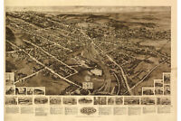 Goshen, New York Antique Birdseye Map; 1922