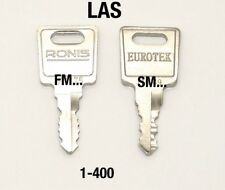 Office Pedistal keys cut to code SM-FM prefix
