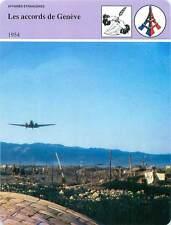 FICHE CARD 1954 Les accords de Genève Dien-Bien-Phu Conflit Indochine  90s
