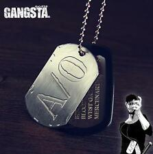 Japan Anime Gangsta Nicolas Brown A/O Anime Cosplay Props Dog Tag Necklace Chain