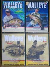 Lindner Walleye Fishing Location Live Bait Artificial Intelligence 4 DVD Lot NEW