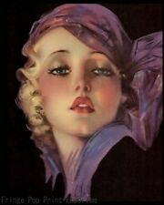 Flapper Pin Up Art Print 8 x 10 - Jazz Age - Art Deco - Roaring 20's - Glam