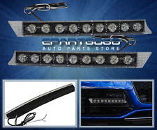 FRONT BUMPER SIGNAL DRIVING RUNNING LIGHTS LAMPS DRL HEAD TAIL WHITE 12V 9 LED
