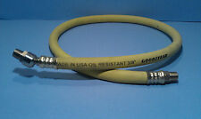 """Goodyear USA 3 Foot 3/8"""" 250 PSI Rubber Air Hose Pigtail Whip w/ Ball Swivel"""