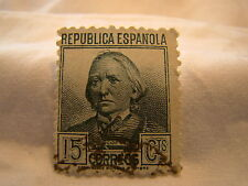 Spain Stamp 1935 Scott 547 A111  Blue 15 Cts