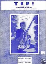 DUANE EDDY Sheet Music YEP! CRITERION Publ. ROCKABILLY Oldies POP Vocals