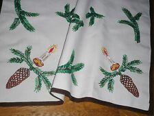Alte Weihnachtsdecke Mitteldecke Weihnachten Handarbeit  Shabby Chic Vintage