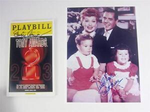 Playbill Orig Broadway Lucie Arnaz Signed Tony Awards 2003 + Photo, COA Lucille
