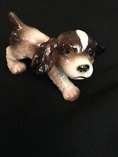 Goebel West Germany Dog Figurine Spring Spaniel Playful Puppy brown