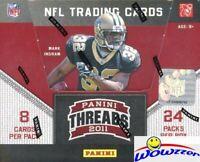 2011 Panini Threads Football HUGE Factory Sealed HOBBY Box-192 Cards+4 AUTO/MEM