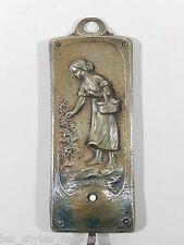 JUGENDSTIL Art Nouveau Bronze Türklingel Tischklingel Klingelknopf wohl F.Sauter