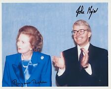 Margaret Thatcher / John Major Autograph , Original Hand Signed Photo