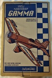1932 Northrop Gamma Bud Light - Texaco Die Cast Metal Coin Bank