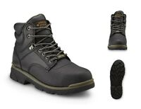 Steel Toe Work Boots Men's Safety Shoes Lightweight Oil Slip Resistant Outsole