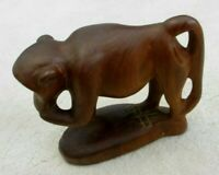 Vintage Wooden Baboon/ Macaque - Hand Made - Teak - very tactile