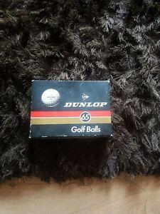 VINTAGE Dunlop 65 Golf Balls Brand New in Boxes 1 Dozen (12 balls) unused.