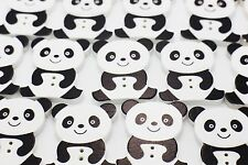 Giant Panda Wooden Button Bear Black White Children Baby Sweater Wood Bead 20pcs