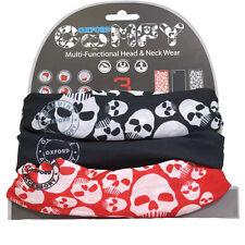 Oxford Comfy Skulls 3 pack Mask Neck warmer Bandana Balaclava Beanie Cycle Bike