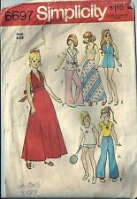 """6697 Simplicity Sewing Pattern Barbie 11 1/2"""" Doll Casual Summer Wardrobe 1970's"""