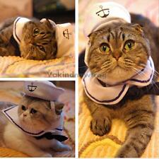 Pet Cat Dog Puppy Kitten Clothes Costume Sailor Suit Outfit Hat Cape Gifts