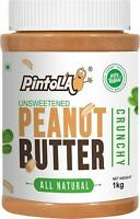 Pintola All Natural Crunchy Peanut Butter1 kg (Unsweetened, Non-GMO,Gluten Free)