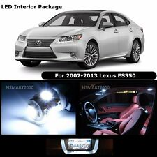 12PCS Cool White Interior LED Bulbs Package Kit For 2008 Lexus ES350