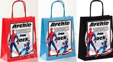 PERSONALISED BOYS BIRTHDAY PARTY PAPER GIFT / FAVOUR TOTE BAGS (SPIDER MAN)