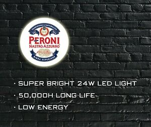 Peroni Nastro Azzurro LED ILLUMINATED SIGN, LIGHT BOX for Garage, Man Cave