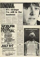Donovan MM6 Interview 1968 Hendrix T.Rex Rory Gallagher Al Stewart advert