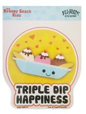 Kreemy Snack Kids Triple Dip Happiness Ice Cream Kawaii Sticker Car Window Decal